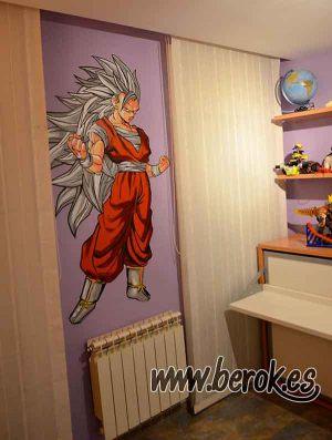 graffiti-habitacion-goku-ss3-pelo-gris
