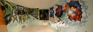 graffiti-habitacion-marvel-goku-tortugas-ninja