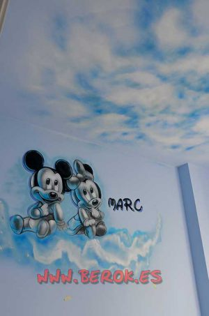 graffiti_3d_mickey_minnie_techo