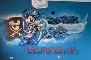 murales_infantiles_mickey_pirata
