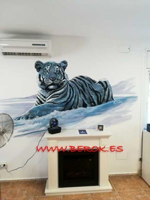 graffiti tigre blanco