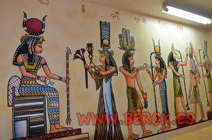 Pintura-mural-egipcia