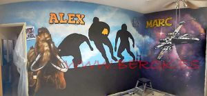 mural rugby star wars