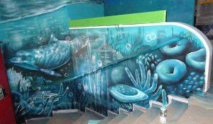 decoracion-interior-fondo-marino-en-escalera