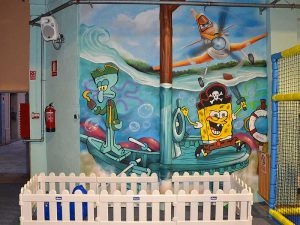 mural-infantil-marino-Bob-Esponja