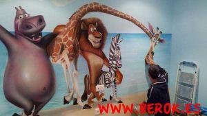 mural-infantil-madagascar-pixar