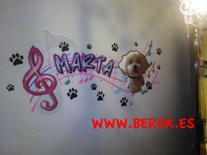 mural-infantil-musica-perro