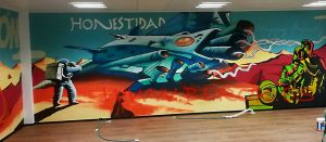 graffiti nave espacial