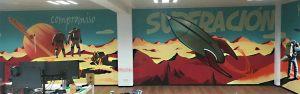 mural graffiti espacio