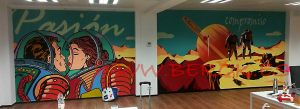 mural graffiti oficinas
