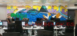 mural oficinas valencia f iniciativas