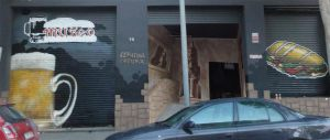 Decoracion-fachada-cerveceria-cafeteria-zona-hermetica-Sabadell