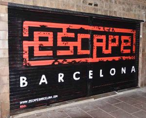 graffiti persiana Escape Room Barcelona