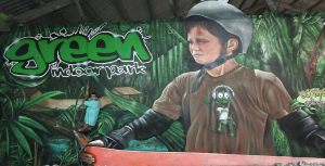 Mural-Green-Indoor-park-XXL