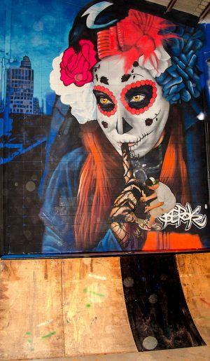 Sugar Skull mural XXL