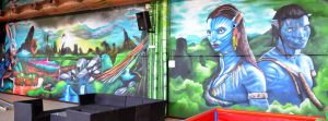 mural-avatar-en-parque-infantil-Imagine-World-de-Sant-Quirze-del-Valles