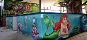mural-infantil-sirenita-parque-infantil-Imagine-World-de-Sant-Quirze-del-Valles